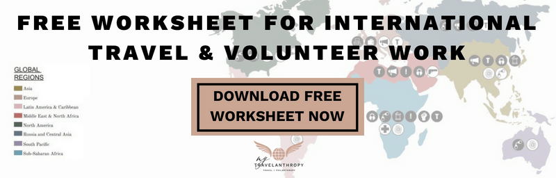 worksheet international travel volunteer abroad travel solo