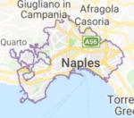 Naples Italy Napoli Italia map