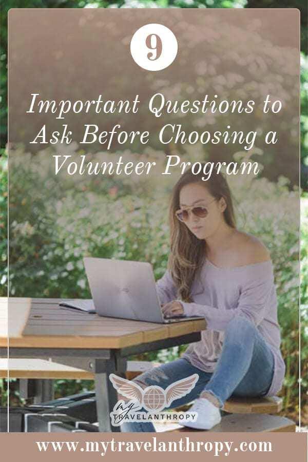 important questions ask before choosing volunteer program