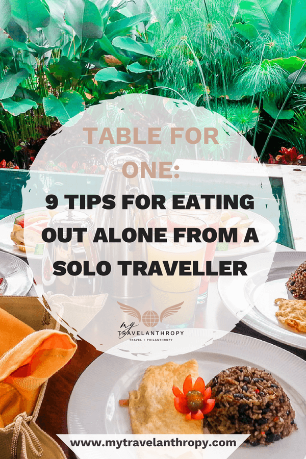 table for one tips eating alone from solo traveller