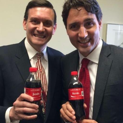 Kevin bosch justin trudeau coke bottles