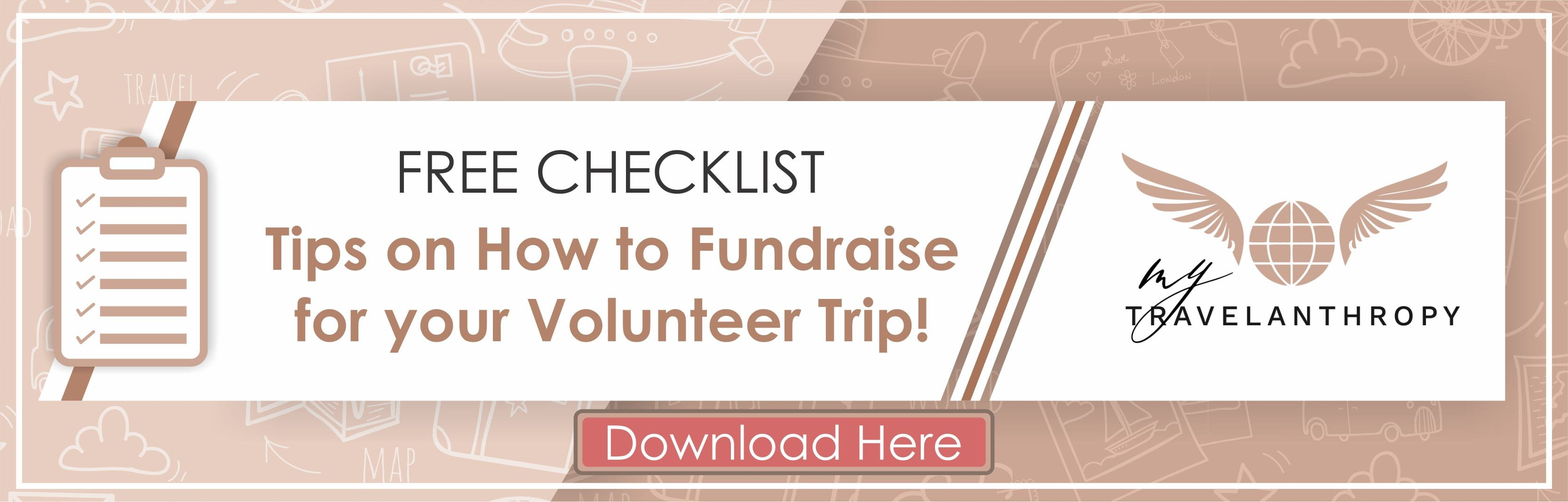 free checklist how fundraise volunteer trip abroad banner