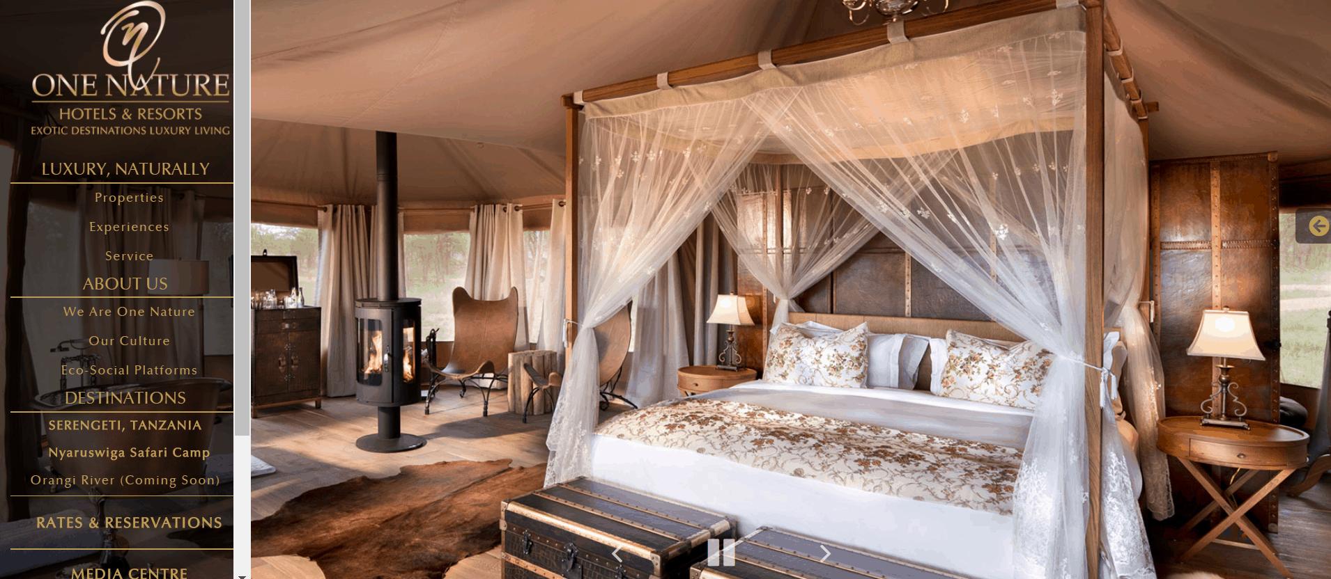 one nature tanzania resort bedroom