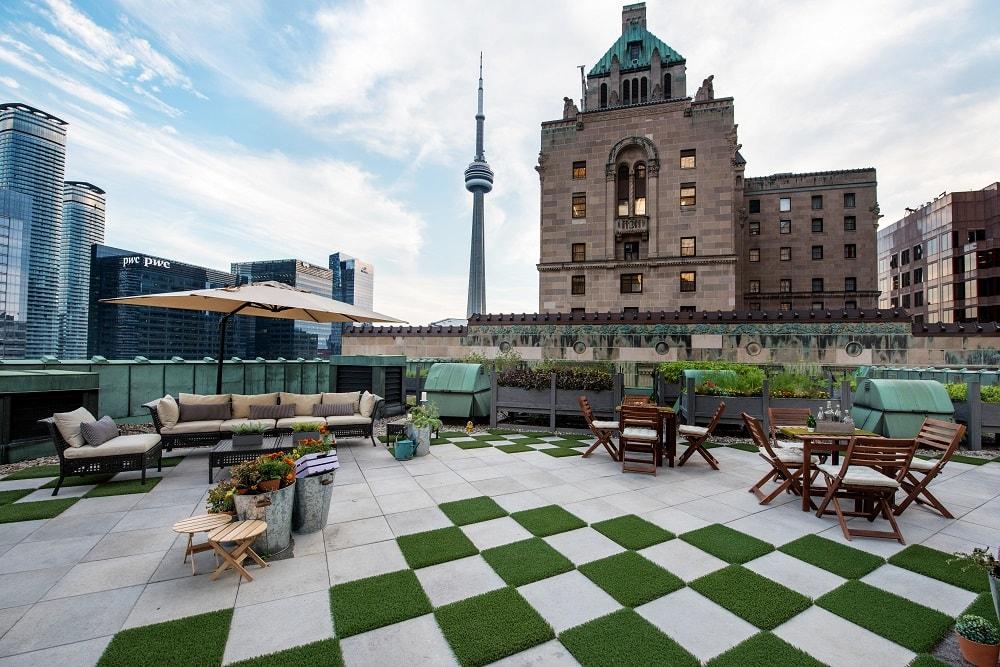 fairmont royal york rooftop garden